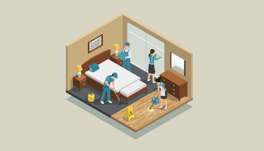 Tratamos da limpeza de hostels em Lisboa