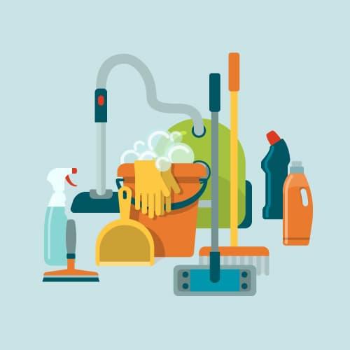 Formação em aplicação de produtos de limpeza